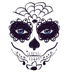 Day of Dead Girl Face8 vector image vector image