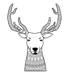 Deer mandala icon vector