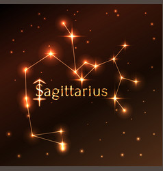 Fire symbol of sagittarius zodiac sign horoscope vector