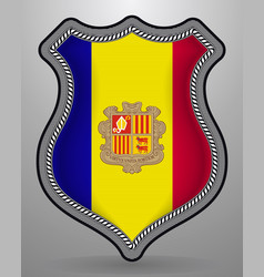 Flag of andorra badge and icon vector