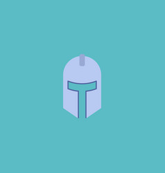 flat icon knight helmet element vector image vector image
