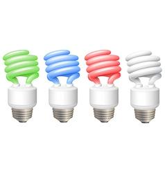 Full spectrum light bulbs vector