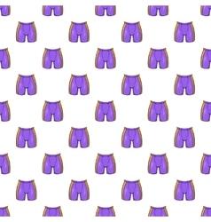 Hockey shorts pattern cartoon style vector image vector image