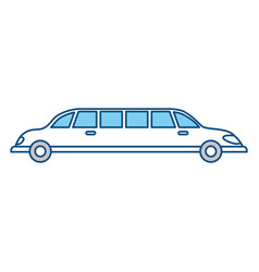 limousine luxury vehicle vector image