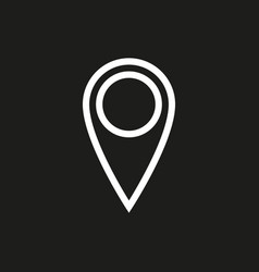 Location icon on black background vector