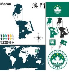 Macau map vector