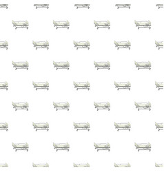 Mobile medical bed pattern vector