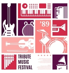 Music festival abstract background vector