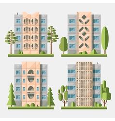 Panel houses flat set3 vector