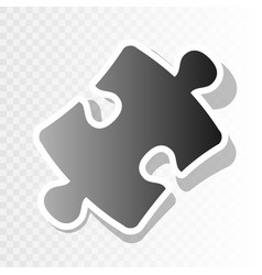 Puzzle piece sign new year blackish icon vector