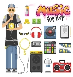 Rap hiphop vector image