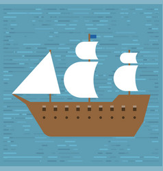 Ship boat sea frigate symbol vessel travel vector