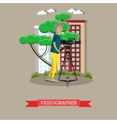 Videographer with video vector