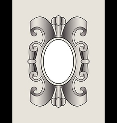 vintage border frame labels design element page vector image