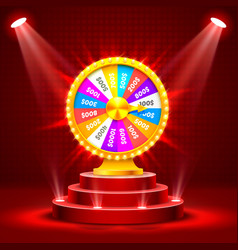 Wheel of fortune on the catwalk vector
