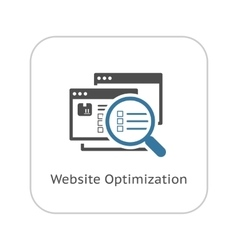 Website Optimization Icon Flat Design vector image