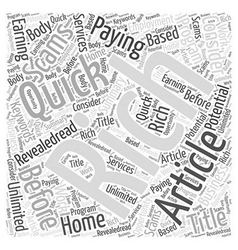 Unlimited earning potential word cloud concept vector