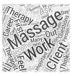 Should you become a massage therapist questions to vector