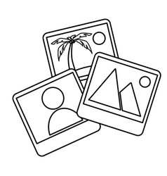 Pictures files isolated icon vector