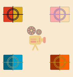 cinema film frame collection vector image
