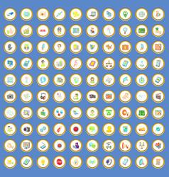 100 seo and web icons set cartoon vector image
