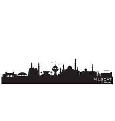 Muscat oman city skyline silhouette vector
