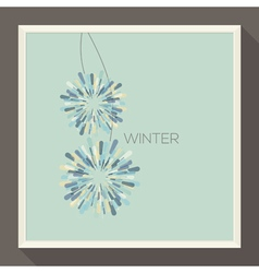 Poster with abstract pastel-colored snowflakes vector