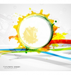 paint grunge background vector image