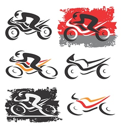 Motorbike motorcycle icons vector