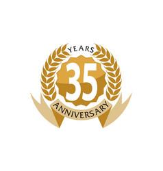 35 years ribbon anniversary vector