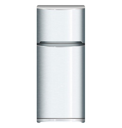 Silver metal fridge vector