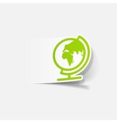 Realistic design element globe vector