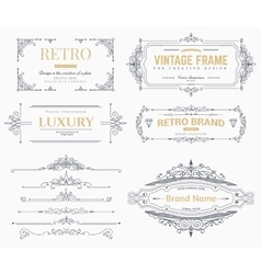 Collection of vintage patterns vector