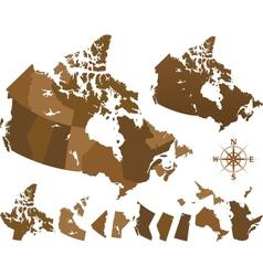 canada map vector image
