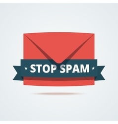 Stop spam vector image
