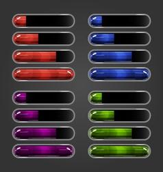 Set of bar downloader-4 vector image