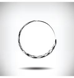 Pinstripe circle grunge black background vector
