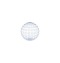 Polygonal element sphere with lines and dots vector