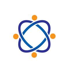 Abstract connectivity network logo vector