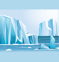 arctic landscape iceberg and vector image vector image