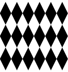 Black and white tile pattern vector image