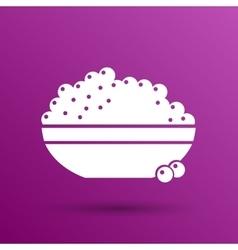 Black caviar logo seafood appetite vector