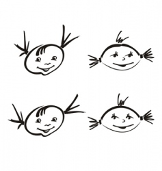 child vector image vector image