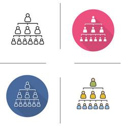 Company hierarchy icons vector