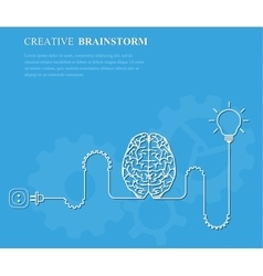 Creative brainstorm concept business idea vector image