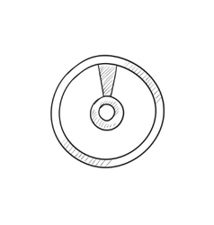 Disc sketch icon vector image vector image