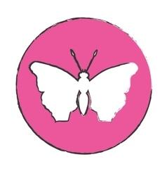 Emblem butterfly feminist defense design vector