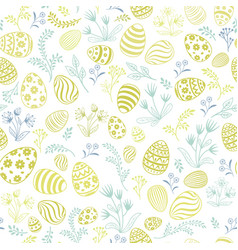 Floral holiday pattern easter egg seamless vector