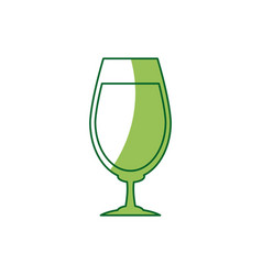 glass cup for drink bar glassware alcohol vector image