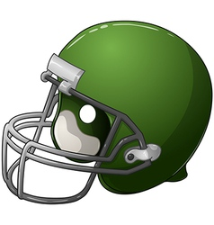 Green football helmet vector